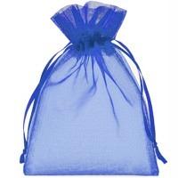Organzabeutel blau KS