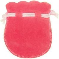 Velour-Beutel pink