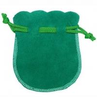 Velour-Beutel grün