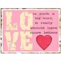 Blechschild Love