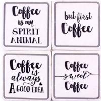Untersetzer Coffee 4er Set