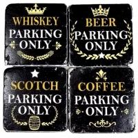 Untersetzer Whiskey 4er Set