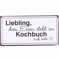 Magnet-Schild Liebling, das Essen steh..
