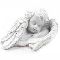 Engelkopf mit Flügeln klein