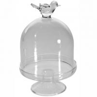 Mini Gebäck-Teller - Haube mit Vogel