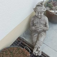 Schlafender Wichtel Gartenfigur Fiona ..