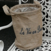 Pflanzsack Jute mit Spruch La Vie...