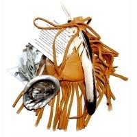 Medizinbeutel aus Hirschleder mit Abalone-Muschel & Salbei