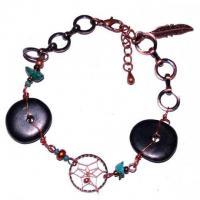 Indianerschmuck Armband Vintage mit Mini Traumfänger