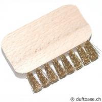 Bürste Holz mit Messingborsten