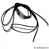 Lederband schwarz 2 mm, 1,85 m lang