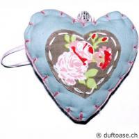 Herz Romantic Stoff hellblau