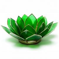 Viertes Chakra Lotus Teelichthalter grün
