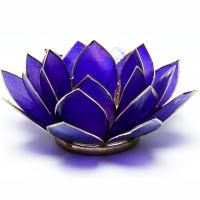 Siebtes Chakra Lotus Teelichthalter violett