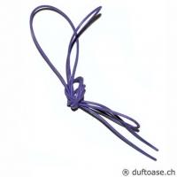 Lederband violett-blau 1,5 mm, 0,8 m l..