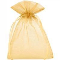 Organzabeutel karamell-goldfarben M