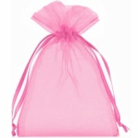 Organzabeutel pink L