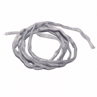 Seidenband silbermetallic ca. 100 cm