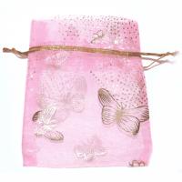 Organzabeutel Butterfly  rosa
