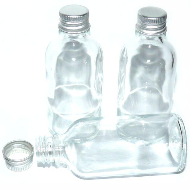 glasflaschen transparent 3 x 50 ml mit aludeckel zubeh r flaschen cleopatra 39 s duft oase. Black Bedroom Furniture Sets. Home Design Ideas