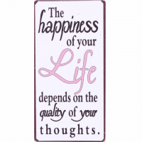 Magnet-Schild THE HAPPINESS OF YOUR LIFE DEPENDS ON THE ...