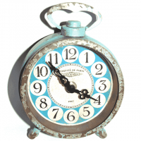Vintage Uhr türkis rund