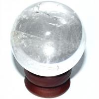 Bergkristall Kugel ca. 5 - 5,5 cm mit Halter