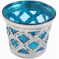 Oriental Windlicht türkisfarben