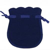Velour-Beutel nachtblau