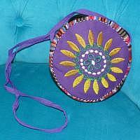 Tibetische Lebensrad Tasche violett