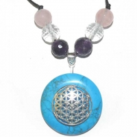 Blume des Lebens Amulett mit Türkenit