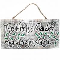 Hexenschild ca. 40 x 20 cm Witchgarden