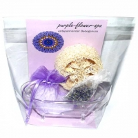 purple-flower-spa Badewannen-Set