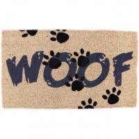 """Fussmatte """"Woof"""" Türmatte 40 x 70 cm"""