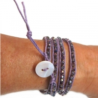 Wickelarmband Purple Velvet Schmuckperlen