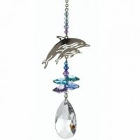 Regenbogenmacher Delphin mit Swarovski Glaskristallen