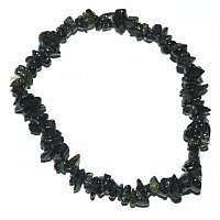 Turmalin schwarz - Der Schützende - Splitter-Armband 18 cm