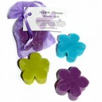 Hippie-Flower Seife türkisfarben