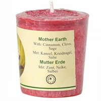 Mutter Erde Duftkerze Zimt, Nelke, Salbei