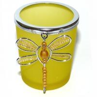 Teelicht Glas Lichtertanz Libelle