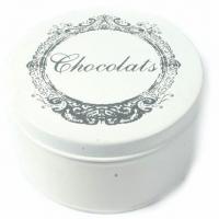 Dose Vintage weiss mit Aufdruck Chocolats
