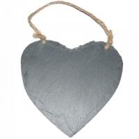 Herz aus Schiefer Stein