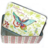 Jardin des Papillons Blechbox 18 x 12,5 x 6 cm