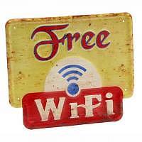 Blechschild Vintage Free WiFI