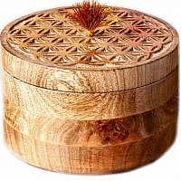 Blume des Lebens Schatulle aus Holz