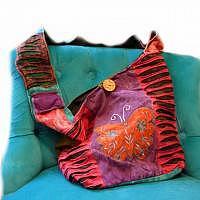 Hippie-Tasche mit orangem Schmetterling