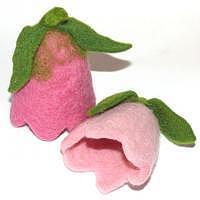 Eierwärmer Blüte gefilzt pink
