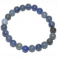 Blauquarz Kugel-Armband 19 cm