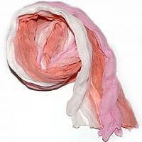 Schal rosa-weiss-peach