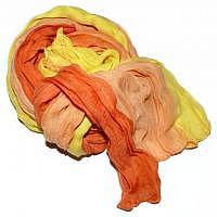 Schal orange-apricot-gelb